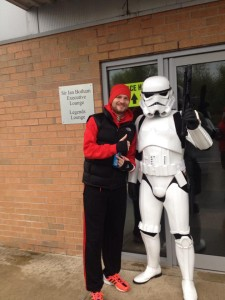 All these years being a Star Wars fan, it wasn't until I became a Harrier that I got to meet a real Storm Trooper ;-)