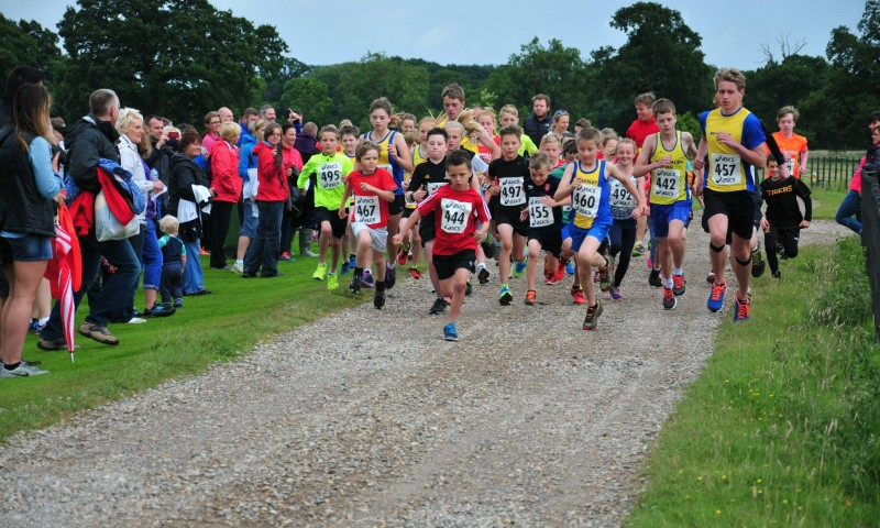 Start of the Kid Fun Run at Burton Constable