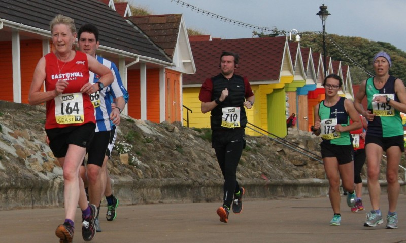 Shirley Oglesby Looking Strong In The Yorkshire Coast 10k
