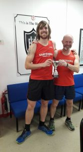 Stuart Buchanan and Keith Conkerton - Winning male pair at the Hull Marathon 2016