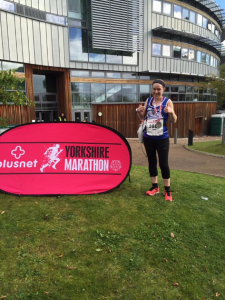 Emily Wix - Yorkshire Marathon 2016 - post race
