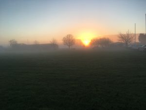 Sunrise - Newark Showground Christmas Challenge