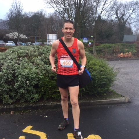 MIke Petersen - before the start of the Chevin Chase 2018