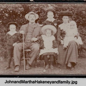 Picture shows John and Martha with children