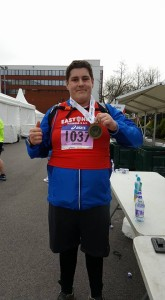 James Braithwaite - post Manchester marathon with his medal