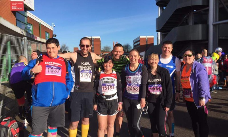 James Braithwaite and friends - Manchester marathon 2016