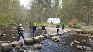Stepping Stones Over Hebden Beck - Abbey Road Impression